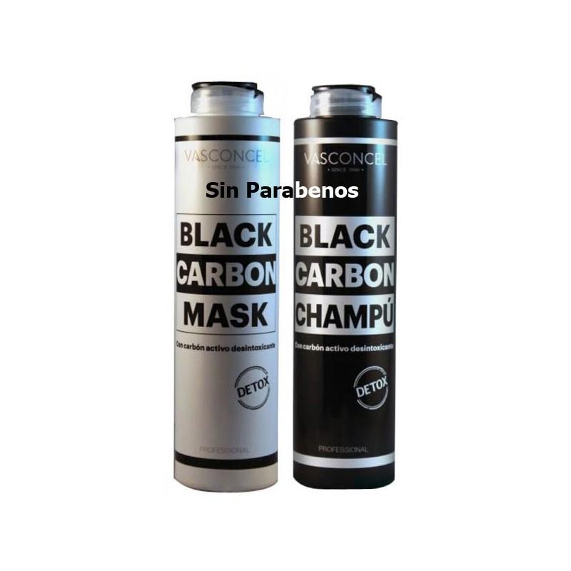 Champu con Carbón Activo. Desintoxicante. 500 ml