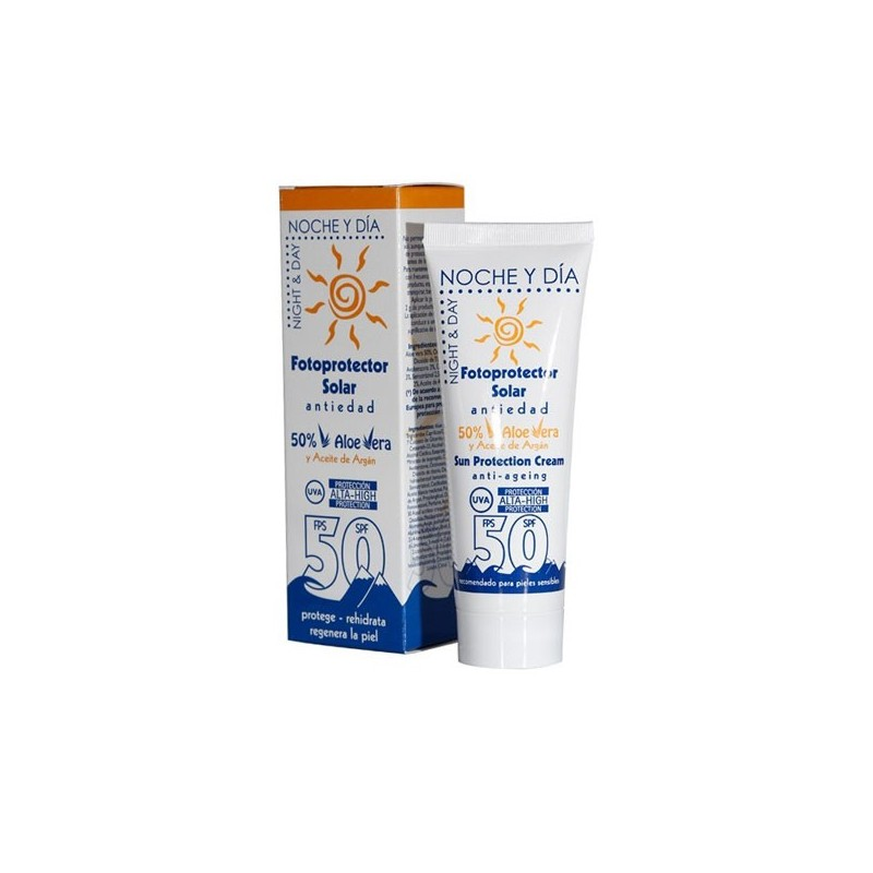 Protector solar, Antiedad FPS 50, 75ml
