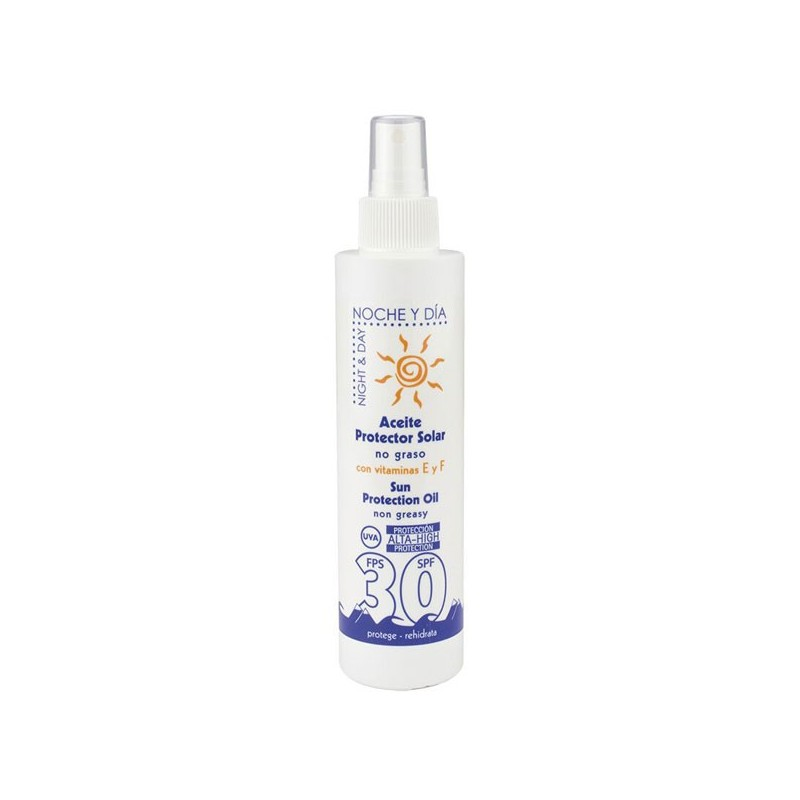 Aceite protector solar, tacto seco, FPS 30, 200 ml