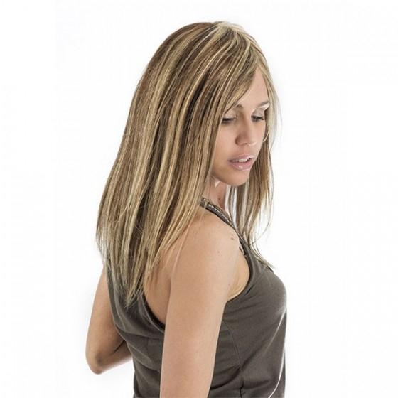 Peluca Cabello Natural Monofilamento. Celia