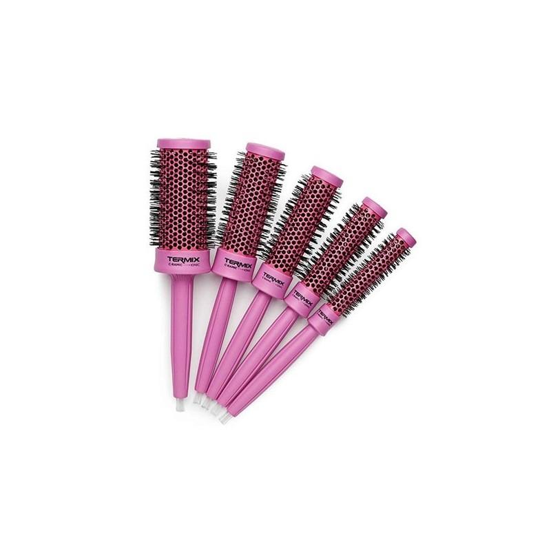 Pack 5 Cepillos Termix C·Ramic Color Rosa