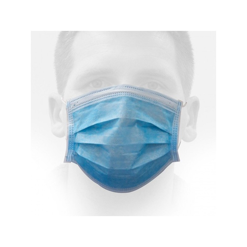 Mascarilla Quirúrgica Certificada, Protección 98% caja 50 Unds