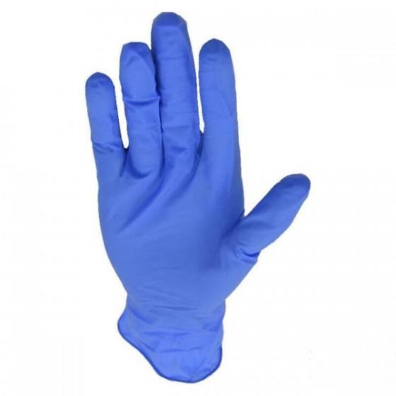Guante Nitrilo Azul Alta Protección sin polvo, desechable. Caja 100 Uds.